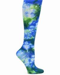 Compression Socks accessories shown in Blue Tie-Dye