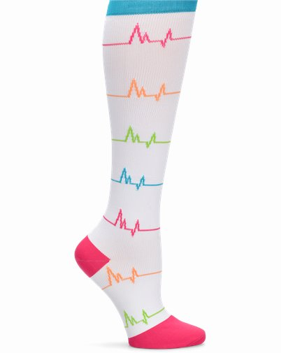 Compression Socks accessories shown in EKG White
