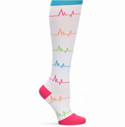 Wide Calf Compression accessories shown in EKG White