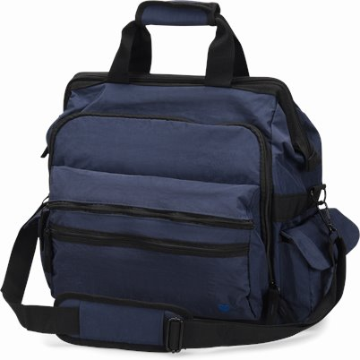 Ultimate Nursing Bag accessories shown in Navy