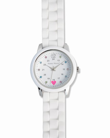 Sparkle Dot Watch shown in White
