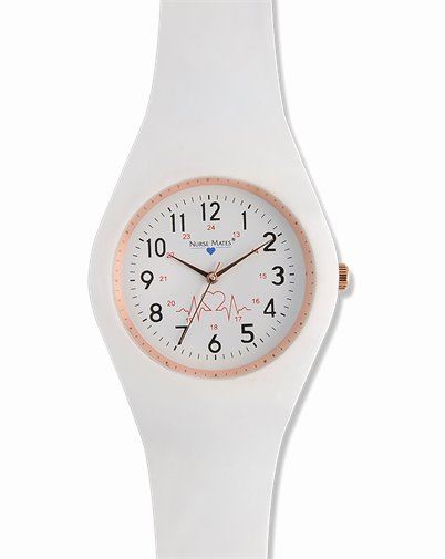 Uni-Watch accessories shown in White Silicone Strap