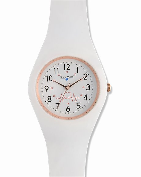 Uni-Watch shown in White Silicone Strap