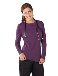 Willow Top apparel shown in Eggplant