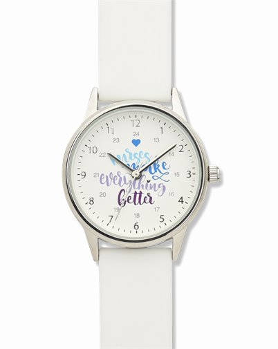 Nurses Slogan Watch accessories shown in White