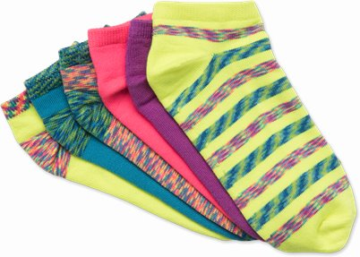 6 Pack Softee Socks accessories shown in Multicolor