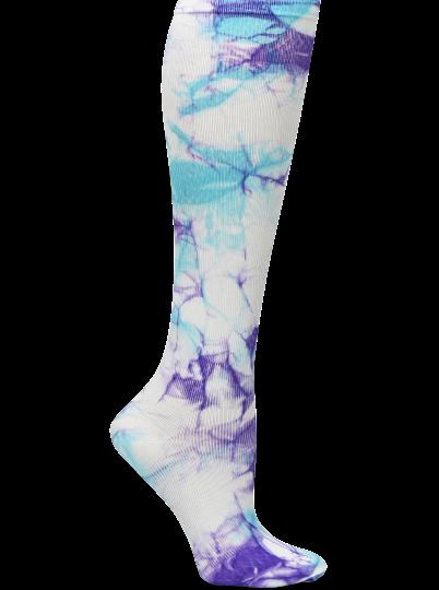 Nursemates Compression Socks - Turquoise & Purple Tie-Dye