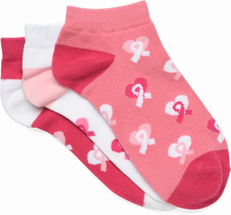 3-Pack Anklets shown in pink ribbon