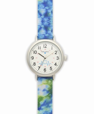 Day Watch accessories shown in blue tie-dye