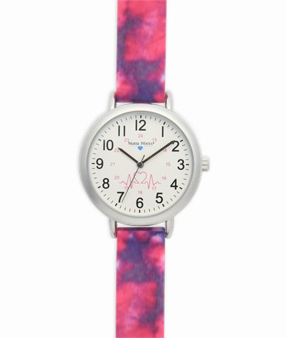 Day Watch accessories shown in pink tie dye