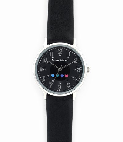 Heart Watch accessories shown in Black