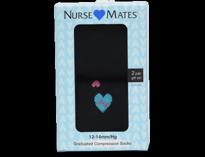 Nursemates Gift Box Compression Socks - Black EKG