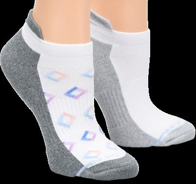 Nursemates Compression Anklet 2-Pack - White Geo Diamond