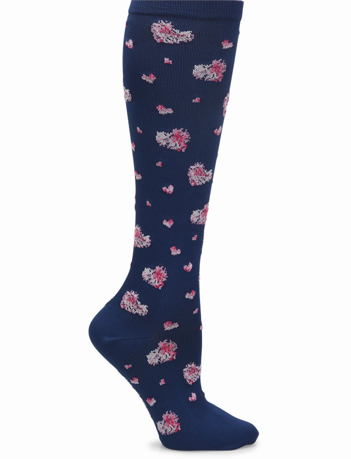 Compression Socks accessories shown in Navy Heart
