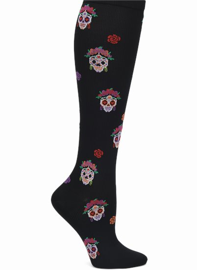 Compression Socks accessories shown in Sugar Skulls