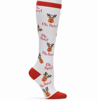 Compression Socks accessories shown in Oh Deer