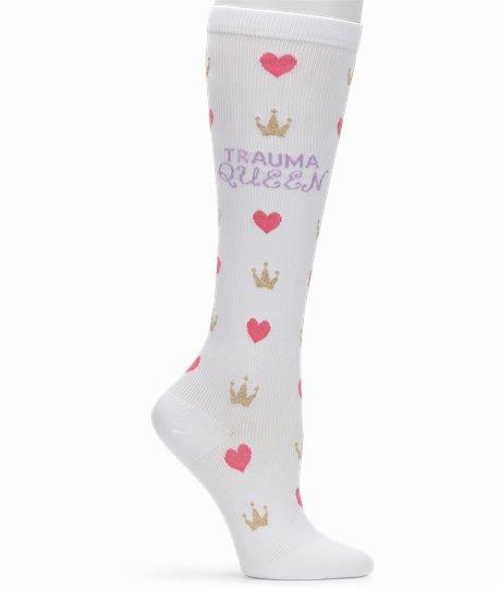 Compression Socks shown in trauma queen