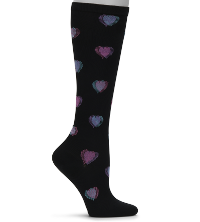 Nursemates Compression Socks - Heart Fusion Black