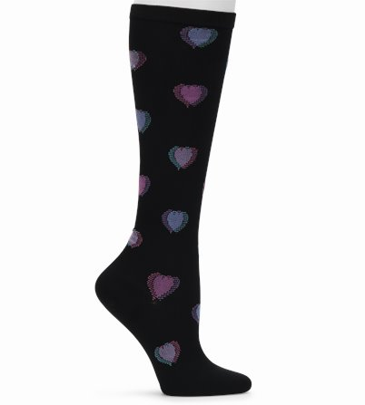 Compression Socks accessories shown in Heart Fusion