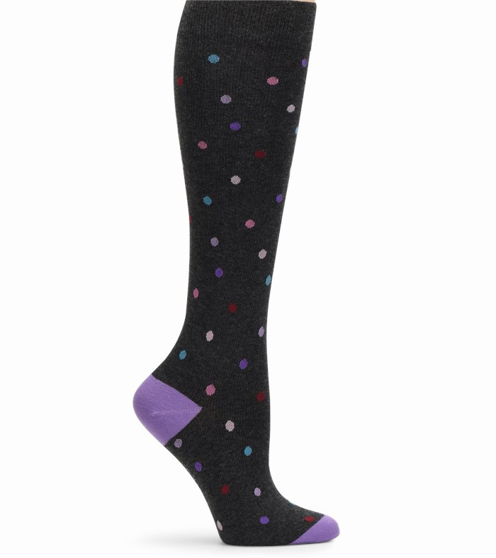 Cashmere Compression accessories shown in Charcoal Dot