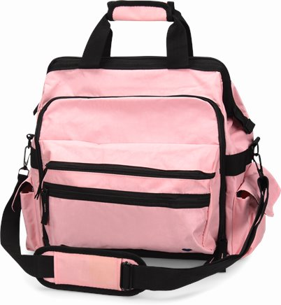 Ultimate Nursing Bag accessories shown in pink