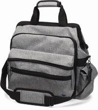 Ultimate Nursing Bag accessories shown in Grey
