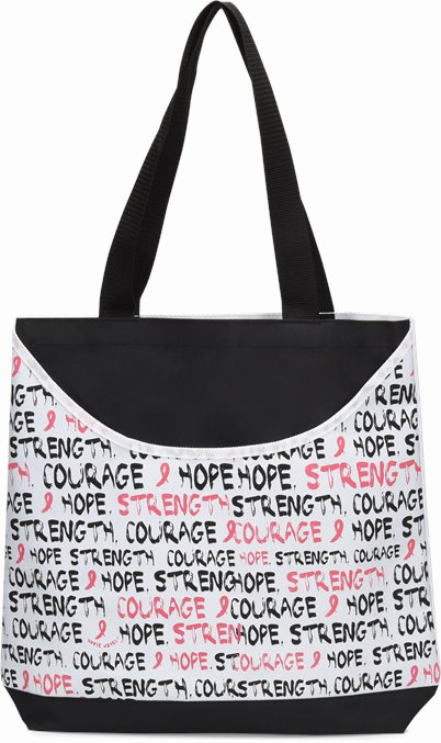 Scoop Tote accessories shown in Awareness