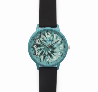 Day Watch accessories shown in Turquoise Tie Dye