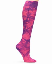 Compression Socks accessories shown in pink tie-dye