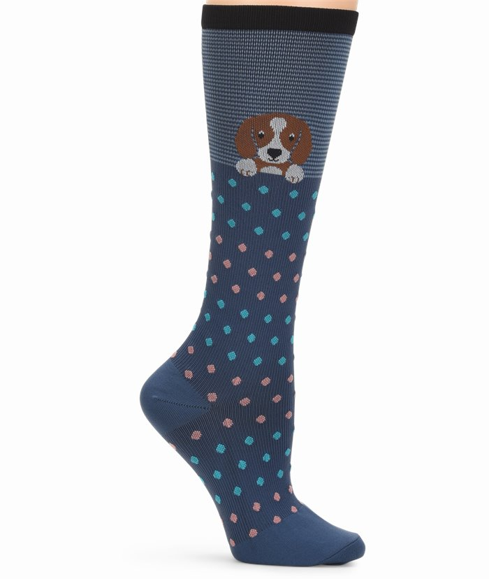 COMPRESSION SOCKS accessories shown in Peeking pup
