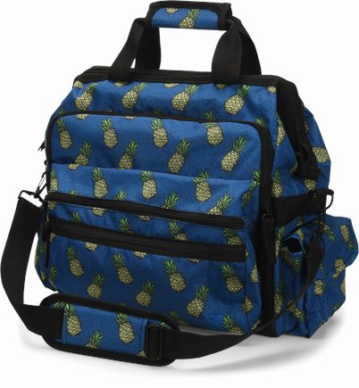 Ultimate Nursing Bag accessories shown in Pineapples