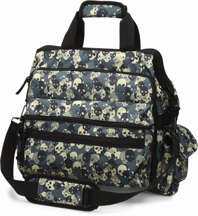 Ultimate Nursing Bag accessories shown in skull camo
