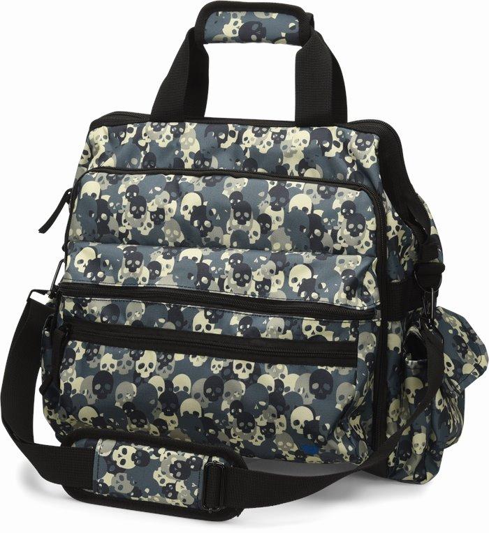 Ultimate Nursing Bag accessories shown in skull camo