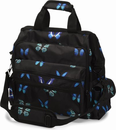 Ultimate Nursing Bag accessories shown in butterflies