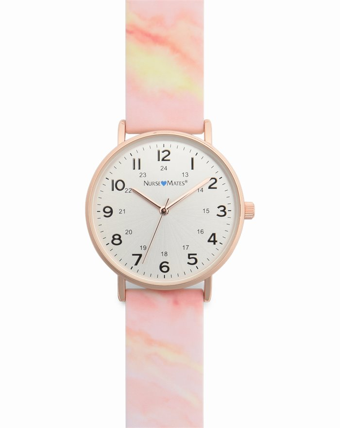 Marble Watch accessories shown in Pink Sky & Rose Gold