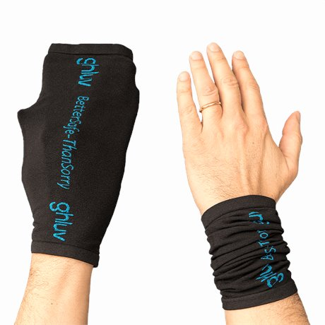 GHLUV Anti Microbial Glove 2 Pair shown in BLACK