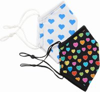 Ultimate Protective Masks accessories shown in Multi Heart 2 Pack