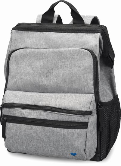 Ultimate Nursing Backpack accessories shown in Grey Linen