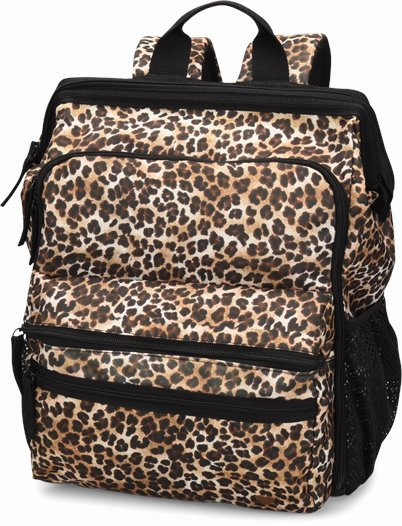 Ultimate Nursing Backpack accessories shown in Cheetah