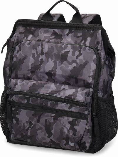 Ultimate Nursing Backpack accessories shown in Grey Camo