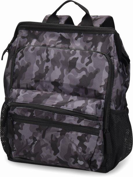 Ultimate Nursing Backpack shown in Grey Camo