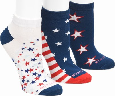 3PK ANKLETS accessories shown in Americana