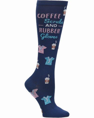 Compression Socks accessories shown in Coffe, Scrubs, Rubber Glovers