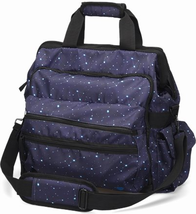 Ultimate Nursing Bag accessories shown in Celestial Sky