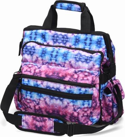 Ultimate Nursing Bag accessories shown in Berry Blue Tie Dye