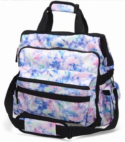 Ultimate Nursing Bag accessories shown in Pastel Garden Tie Dye