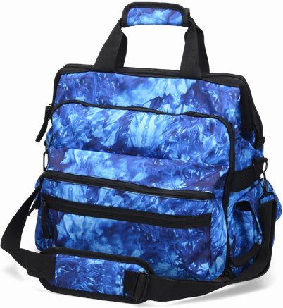 Ultimate Nursing Bag accessories shown in Blue Crystals