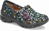 Libby shoes shown in Rainbow Raindrop