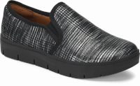 Adela shoes shown in black & silver houndstooth