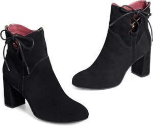 Jutra Boots in Black Suede